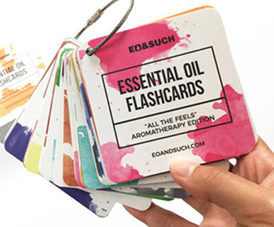 Aromatherapy Essential Oil Flashcards: