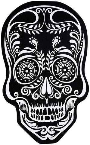 B&W Sugar Skull - Rubber Doormat