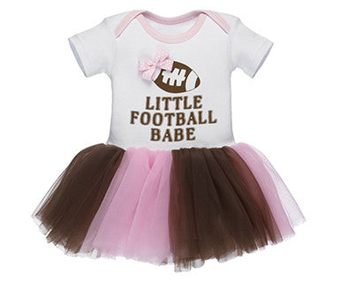 Little Football Babe - Baby Diaper Dress