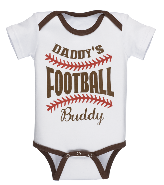 Daddy's Football Buddy - Baby Diaper Shirt - Pi Style Boutique - Ganz - Little Ones