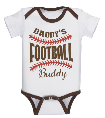 Daddy's Football Buddy - Baby Diaper Shirt