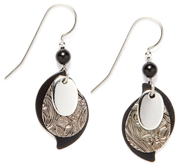 Layered Paisley - Silver Forest Earrings