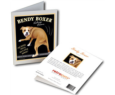 Bendy Boxer - Greeting Card