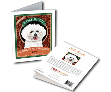 Bichon Biscuits - Greeting Card