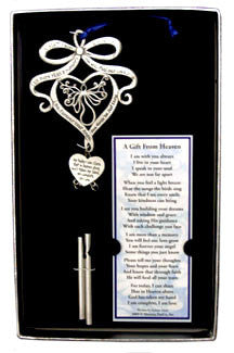 A Gift From Heaven ©  Pewter Wind Chime w/ Bookmark