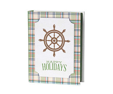 Coastal Magnetic Box Christmas Cards - Pi Style Boutique - C.R. Gibson - Gifts & Decor - 1
