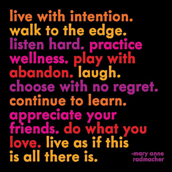 "Radmacher: ""Live with intention…"" - Pi Style Boutique - Quotable Cards - Gifts & Decor"