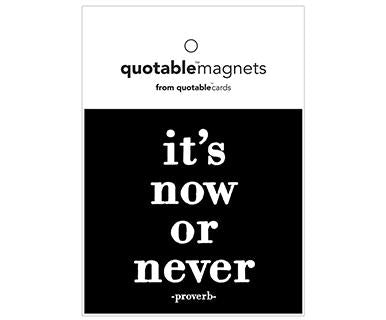 It's Now Or Never - Quotable Magnet