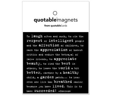 To Laugh Often And Much - Quotable Magnet