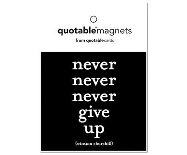 Never Never Never Give Up - Quotable Magnet