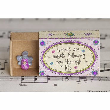 Friends are Angels Matchbox Card - Pi Style Boutique - Natural Life