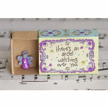 There's an Angel Matchbox Card - Pi Style Boutique - Natural Life