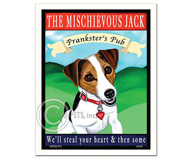 Mischievous Jack - Magnet - Pi Style Boutique - Retro Pets Art - Gifts & Decor