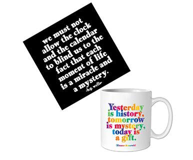 How to Live Life Today - Quotable Card with Mug Bundle