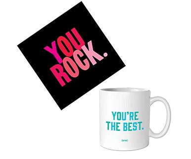 The Best, You Rock - Quotable Card with Mug Bundle