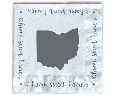 Home Sweet Home (Ohio) - Cocktail Napkins - Pi Style Boutique - Occasionally Made - Gifts & Decor