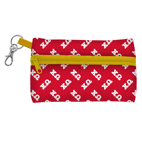Occasionally Made Neoprene ID Case / Key Wallet - Chi Omega - Pi Style Boutique - Occasionally Made