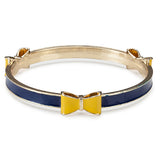 Occasionally Made Bow Bracelet (Bangle) - Navy / Yellow (School Pride) - Pi Style Boutique - Occasionally Made