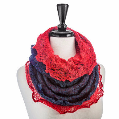Occasionally Made Mohair Infinity Scarf- Navy/Red - Pi Style Boutique - Occasionally Made