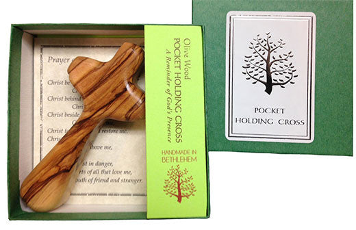 """Olive Wood"" - Holding Cross - Pi Style Boutique - Good Gift - 2"