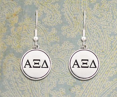 Alpha Xi Delta Earrings - Pi Style Boutique - Pi Style Boutique - Accessories