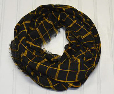 Beachy Plaid - Infinity Scarf (FINAL SALE)