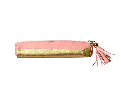 Blush & Gold Pencil Pouch - Leatherette - Pi Style Boutique - C.R. Gibson - Gifts & Decor