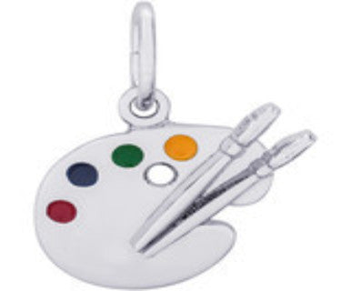 Artist Palette Sterling Silver Charm - Pi Style Boutique - Rembrandt - Accessories - 2