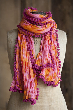 Pompom Scarf - Pi Style Boutique - Natural Life