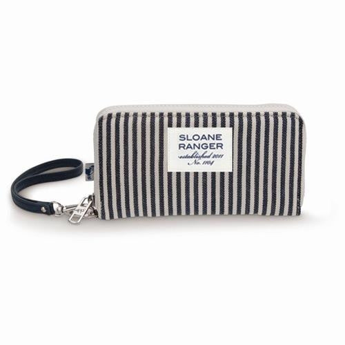 Large Smartphone Wallet - Denim Stripe - Pi Style Boutique - Sloane Ranger