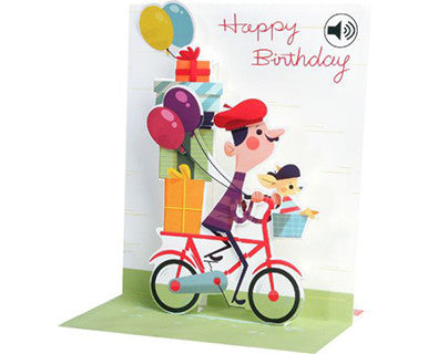 Bicycle Birthday - Up With Paper Pop-Up Card - Pi Style Boutique - Up With Paper - Gifts & Decor
