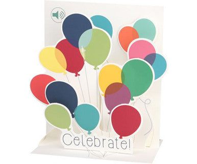 Balloons Celebrate!- Up With Paper Pop-Up Card - Pi Style Boutique - Up With Paper - Gifts & Decor