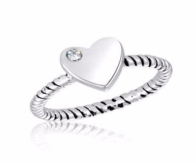 Sweetheart (White) - DaVinci Stack Ring - Pi Style Boutique - Center Court
