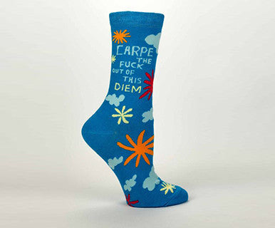 Carpe The Fuck Out of This Diem Women's Crew Socks