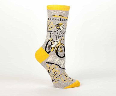 Hellraiser - Women's Blue Q Crew Socks