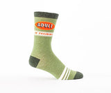 Adult in Training - Men's Blue Q Crew Socks