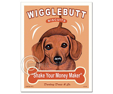 Wigglebutt Biscuits, Doxie - Print - Pi Style Boutique - Retro Pets Art - Gifts & Décor