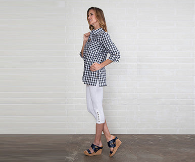 Gingham Button Up Xs Asst - Pi Style Boutique - Noelle - Clothing - 3