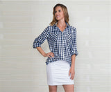 Gingham Button Up Xs Asst - Pi Style Boutique - Noelle - Clothing - 4
