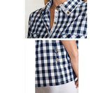Gingham Button Up Xs Asst - Pi Style Boutique - Noelle - Clothing - 5