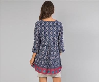 Wanderlust Print - Simply Noelle Tunic (FINAL SALE)