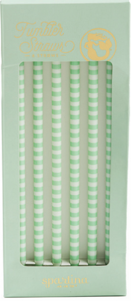 Blue Stripe - Spartina 449 Replacement Straws - Pi Style Boutique - Spartina - Gift & Decor
