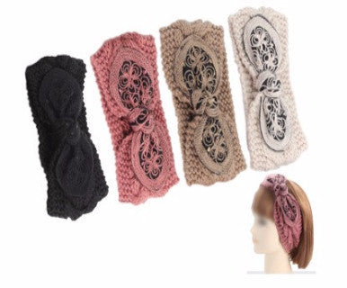 Winter Bow - Embellished Ear warmer (FINAL SALE)