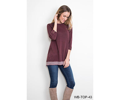 Button Up - Simply Noelle Sweater Top (FINAL SALE)