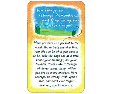 Ten Things to Always Remember Wallet Card