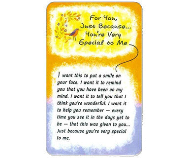 For You Just Because - Wallet Card