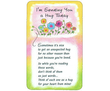 Sending You a Hug - Wallet Card