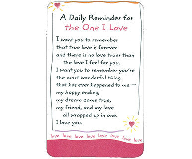 One I Love - Wallet Card