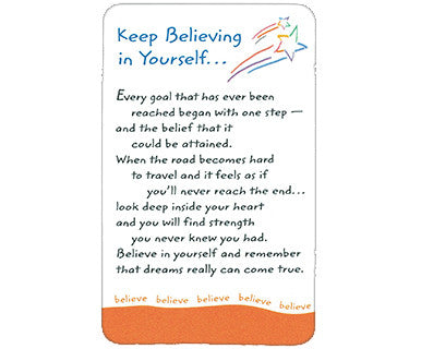 Keep Believing In Yourself - Wallet Card