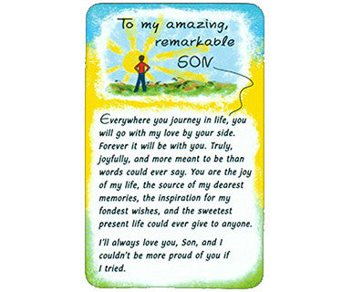 To My Amazing Remarkable Son Wallet Card